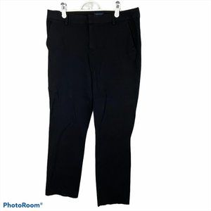 TOMMY HILFIGER Black Stretch Straight Pants